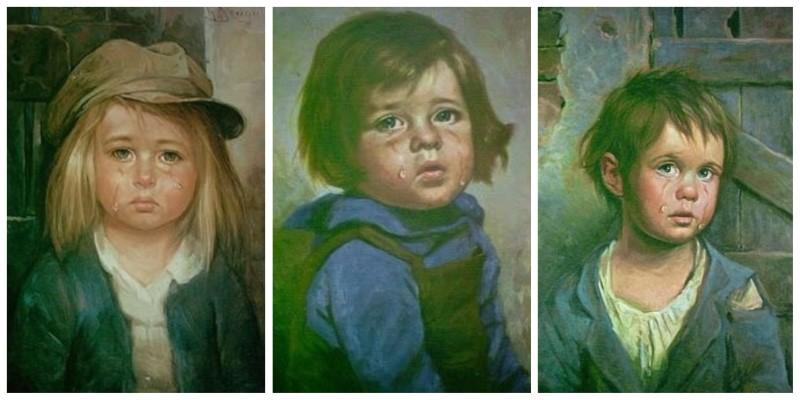 quadri bambini che piangono