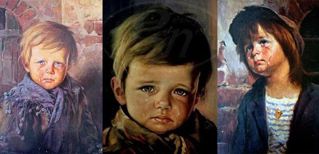 quadro bambino che piange