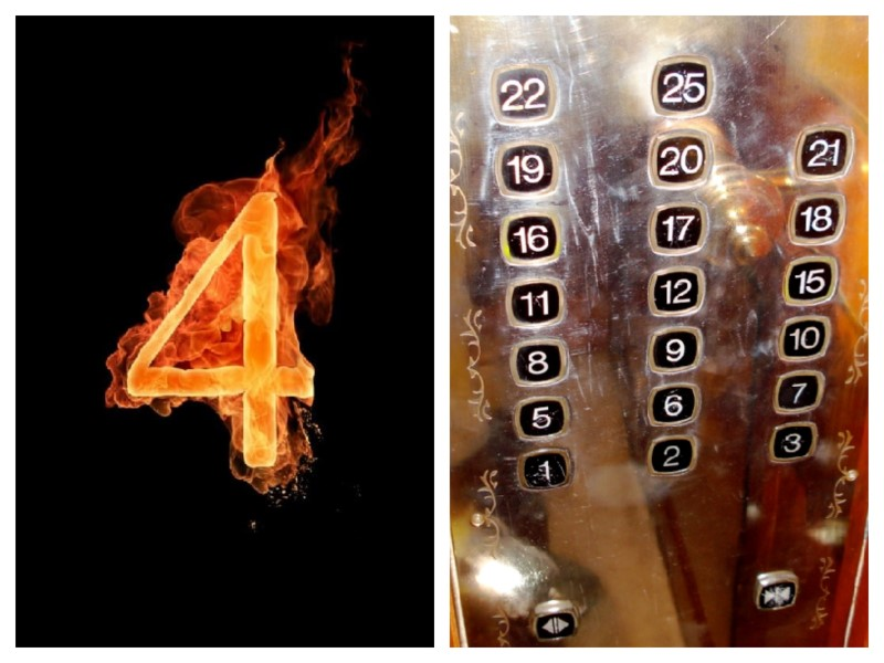 4 numero sfortunato in cina