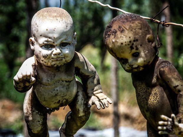 isola delle bambole impiccate messico