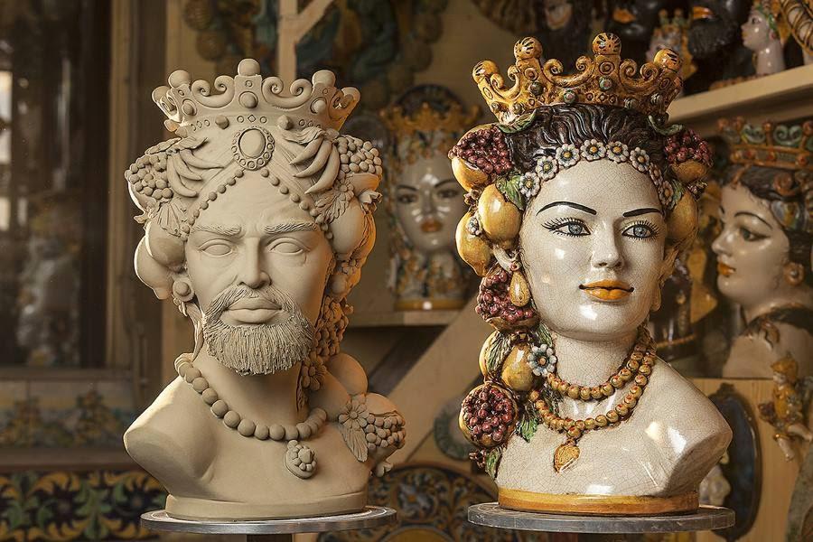 610cc1167dc031 Le teste di moro, sono delle meravigliose ceramiche artigianali siciliane  che raccontano una storia leggendaria dai toni tristi