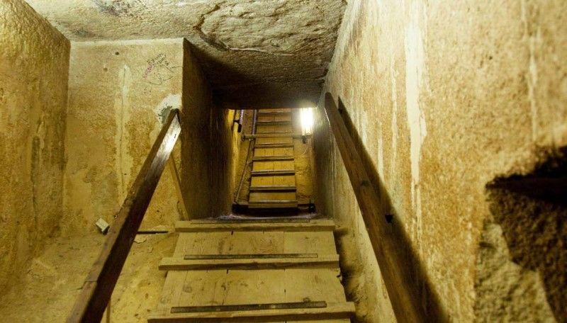 piramide di cheope interno