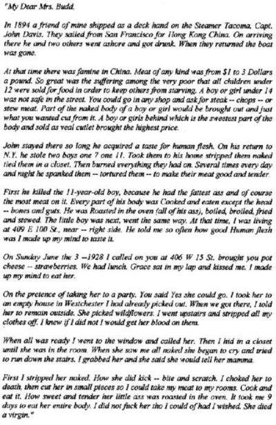 albert fish lettera