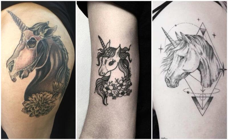tatuaggio unicorno